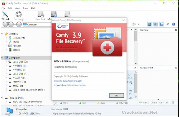 Comfy File Recovery Crack v5.7 + Registration Key [ Latest Version]