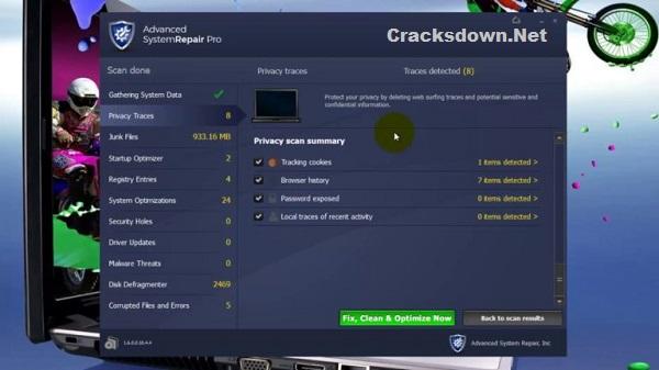 Advanced System Repair Pro Crack v1.9.4.1 + License Key