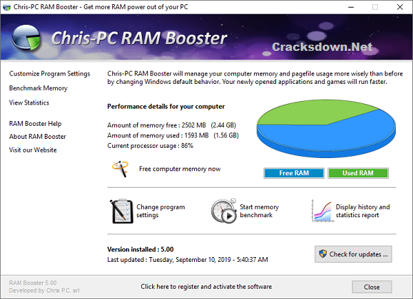 Chris-PC RAM Booster Crack v5.14.14 + Serial Key [Full Version]