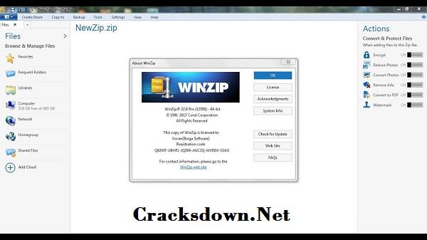 Winzip Pro Crack v25 + Activation Code [Latest Version]