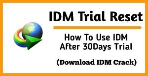 IDM Trial Reset :